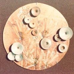 round mural 08 | assembled in burlap | diameter 32 cm | 70's