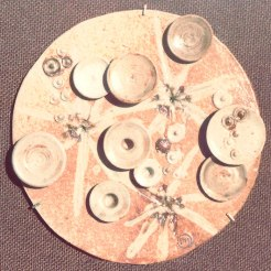 round mural 09 | assembled in burlap | diameter 32 cm | 70's