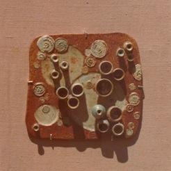 squared mural 04 | assembled in burlap | 70's