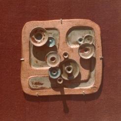 squared mural 05 | assembled in burlap | 70's