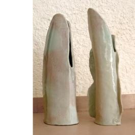 two vases #04   42 x 7 x 12 cm & 43 x 17 x 10 cm