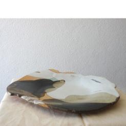 round plate #05 | 34 x 42 x 5 cm